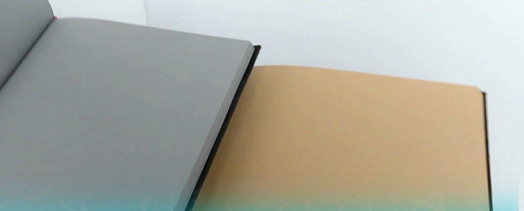 Hahnemühle Cappuccino Book & Grey Book Interior Photo