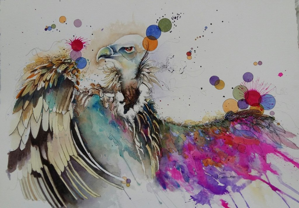 Vain Glory Watercolor Painting by Angela Emsen-West