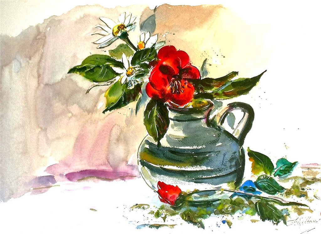 Flowers Watercolor by Thomas Mühlbauer - Doodlewash
