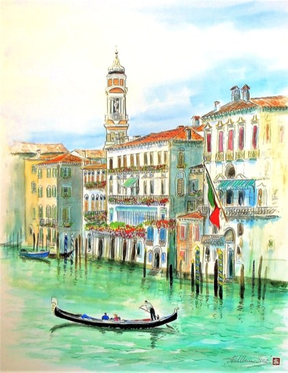 Venice Watercolor by Thomas Mühlbauer - Doodlewash