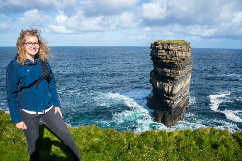 Angela Fehr Downpatrick Head in Ireland - Doodlewash