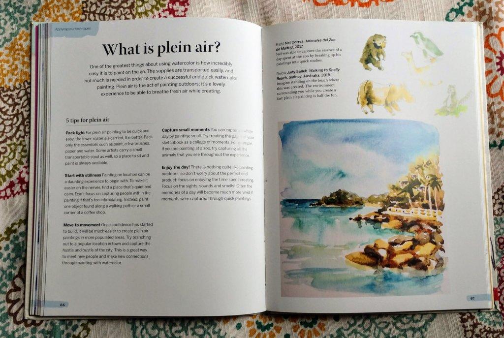5 Minute Watercolor Plein Air Page Example - Dodolewash