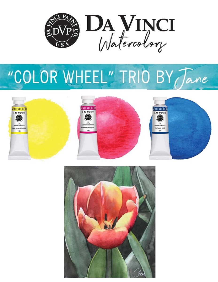 Doodlewash Jane S Color Wheel Da Vinci Watercolor Trio