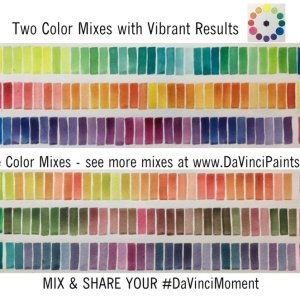 Jane Blundell Color Wheel Da Vinci Watercolor Mixing Chart