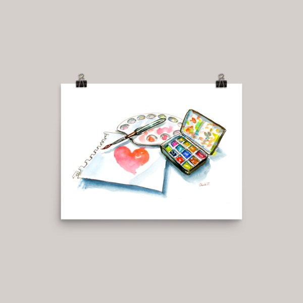 World Heart Day Signed Watercolor Print - Doodlewash