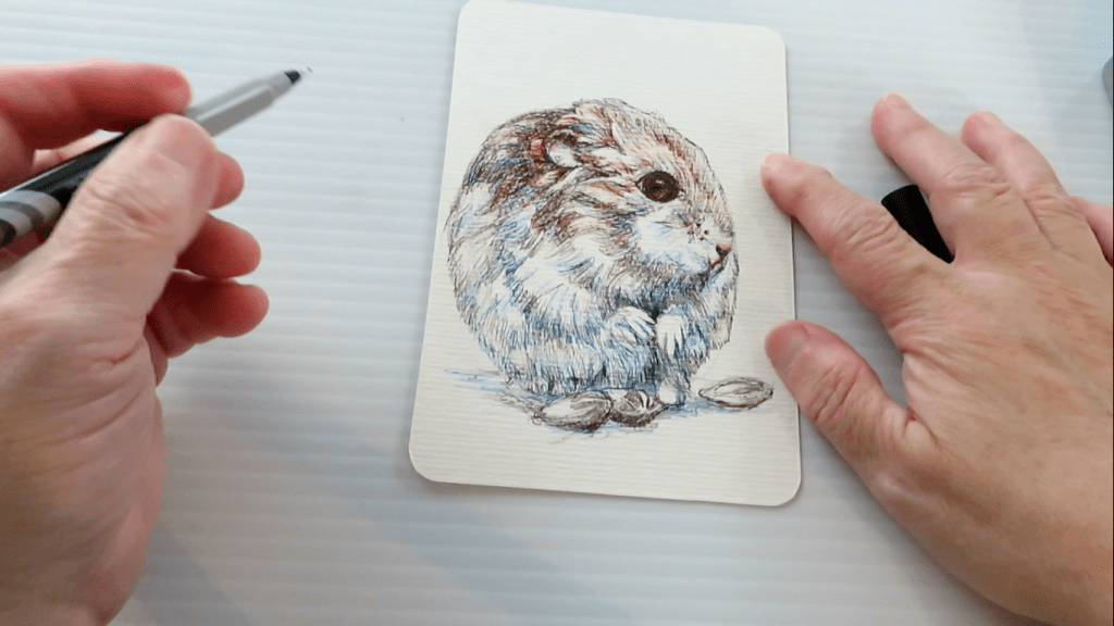 How to Draw A Hamster - Step 9 - Blending Colors - Doodlewash