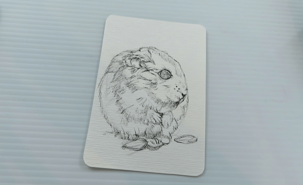 How to Draw A Hamster - Step 3 - Full Ink Outline - Doodlewash