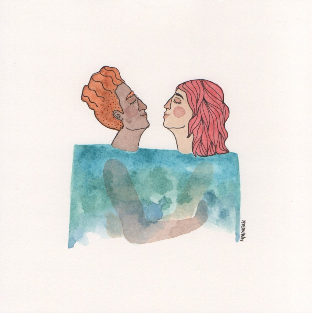 Watercolor Illustration by Mya Pagán