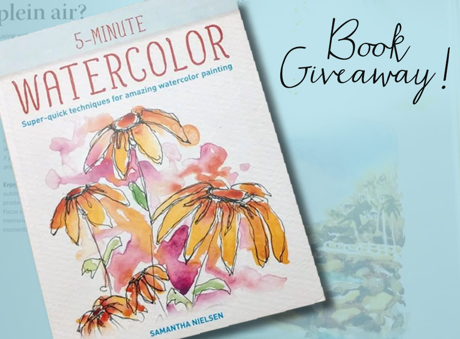 5 Minute Watercolor Book Giveaway Main Image