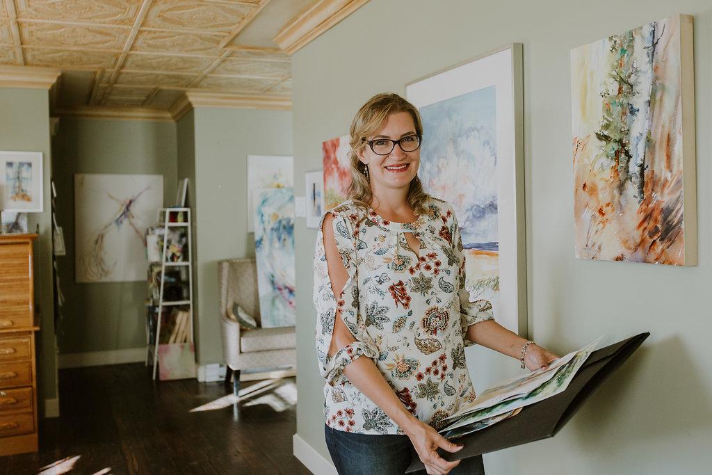 Photo Of Angela Fehr and watercolor - Doodlewash