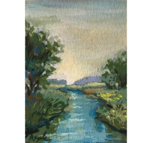 Miniature watercolor plein air study for painting – CountryCreekEBAY_edited-1