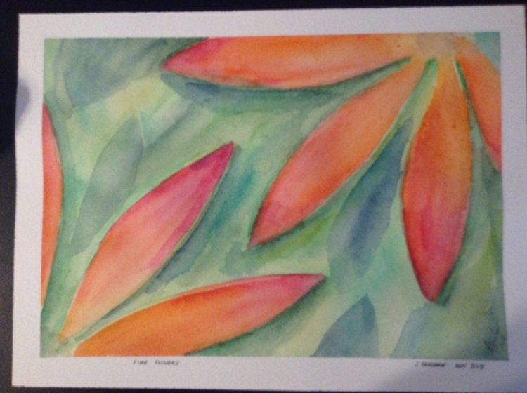 Fire Flowers. A little abstract. It is based on a passing glance of an image I saw while watching a