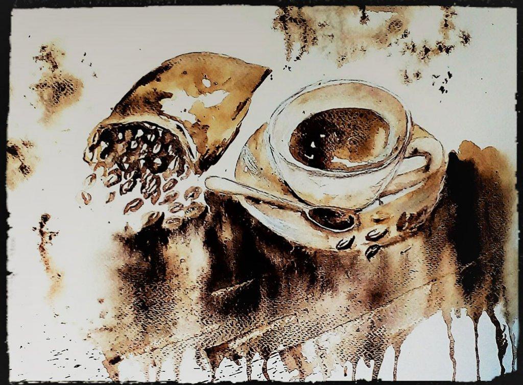 Coffee Painting by Margarida Rebelo - Doodlewash