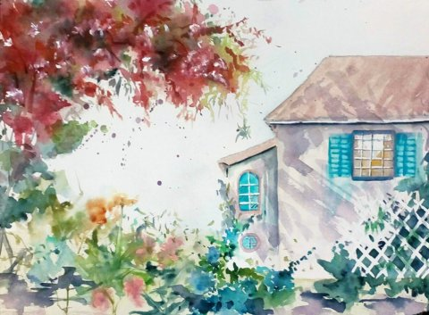 Watercolor Painting by Margarida Rebelo - Doodlewash