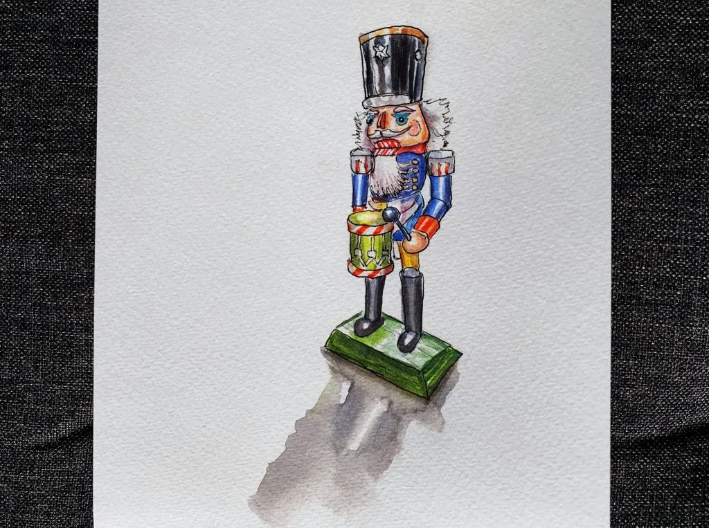 Day 9 - Nutcracker Watercolor Sketchbook - Doodlewash