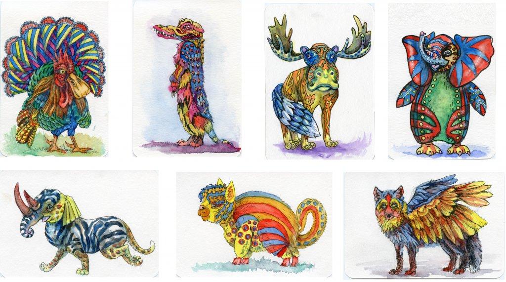 Alebrijes Illustrations by Sandra Strait - Doodlewash