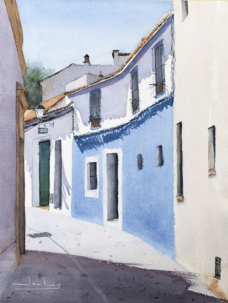 Carmona, Sevilla Watercolor by Teresa Santos - Doodlewash