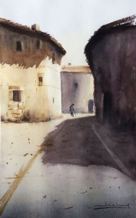 Carrascosa de la Sierra, Soria Watercolor by Teresa Santos - Doodlewash