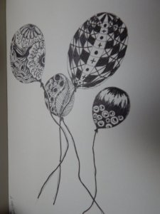 I love doing Art Doodle, an I've created my balloons to welcome in the New Year…Good way