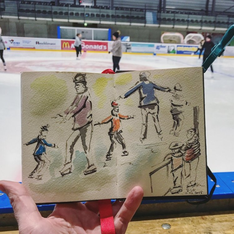 Practice, practice, practice. That goes for iceskating as well as sketching 😊❄&#xfe0f