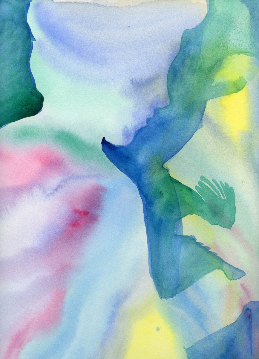 Woman's Profile Watercolor Painting by Sandra Strait - Doodlewash