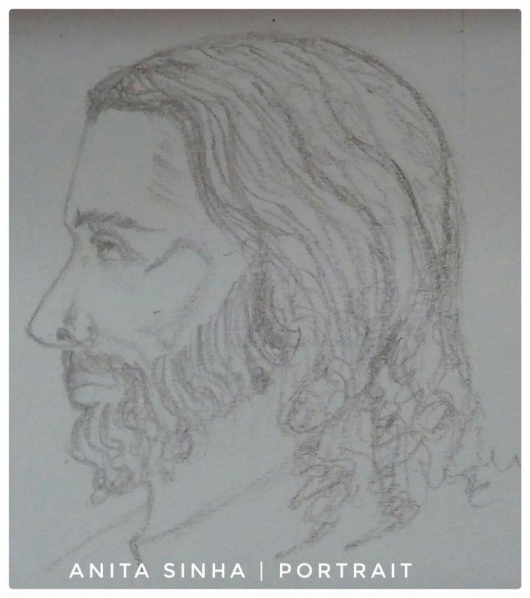 Portrait practice – Side profile. #doodlewsshDecember2018 IMG_20180811_211241_773-01