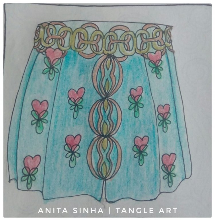 I have used #8sam ( Day 1), #fanofhearts ( Day 11) & #sistar ( Day 13) tangle patterns in this s