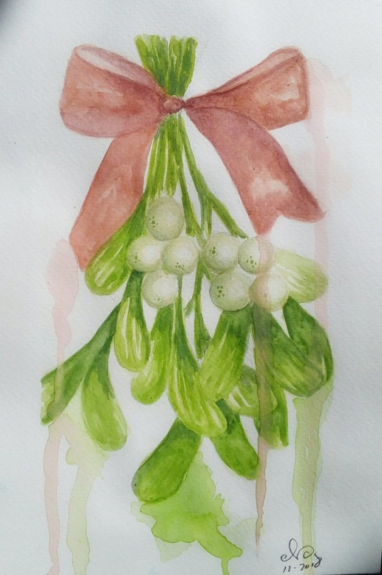 Day 5: Mistletoe Sorry for my late upload. Been very busy, but still done it on the fifth day. Not m