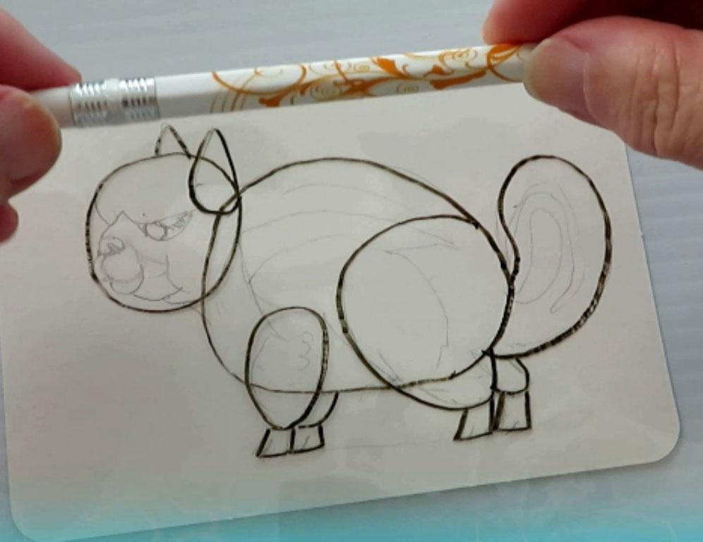 Drawing Shapes Proportions - alebrijes acuarela watercolor alpacamunk