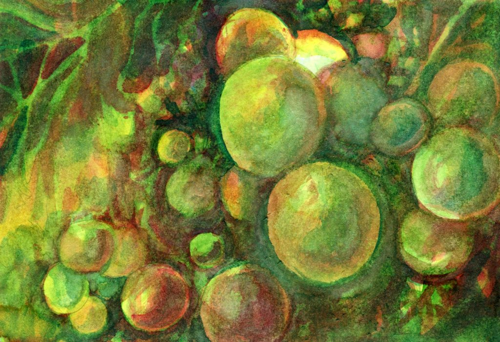 Sandra Strait Conversation Starter · 3 mins Schmincke watercolor in Hahnemühle Report & Art bo