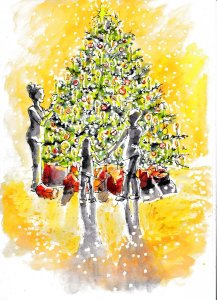 Christmas tree lights – from day one of the December list My first post here – very happ