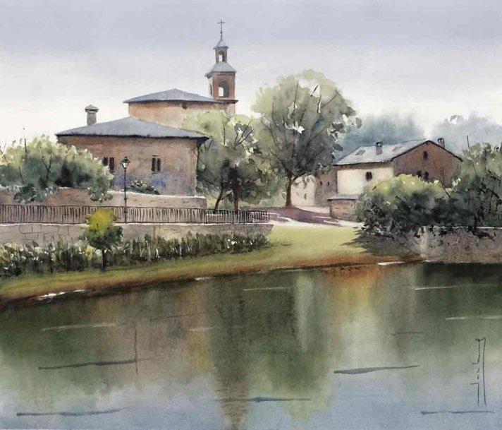 Foronda Watercolor by Teresa Santos - Doodlewash