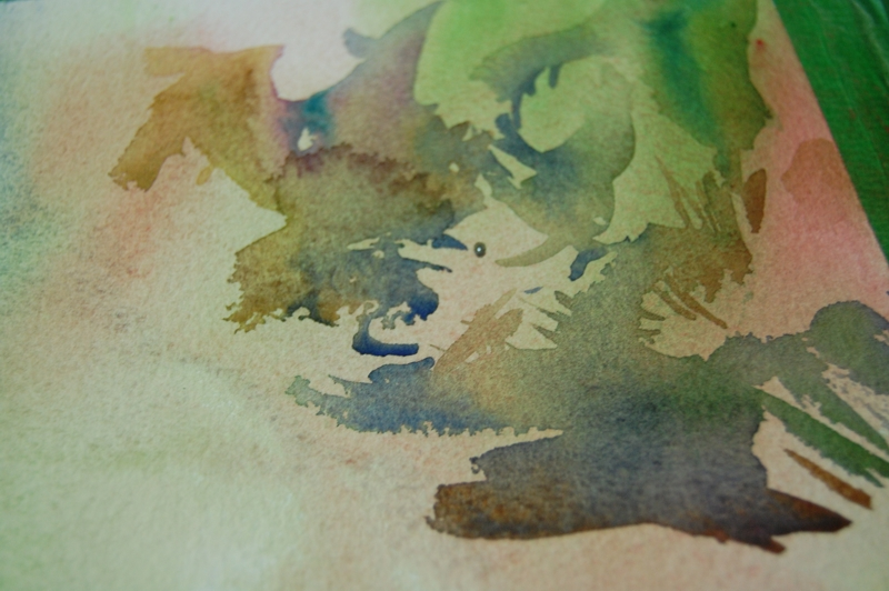 Angela Fehr Unfinished Watercolor Painting - Doodlewash