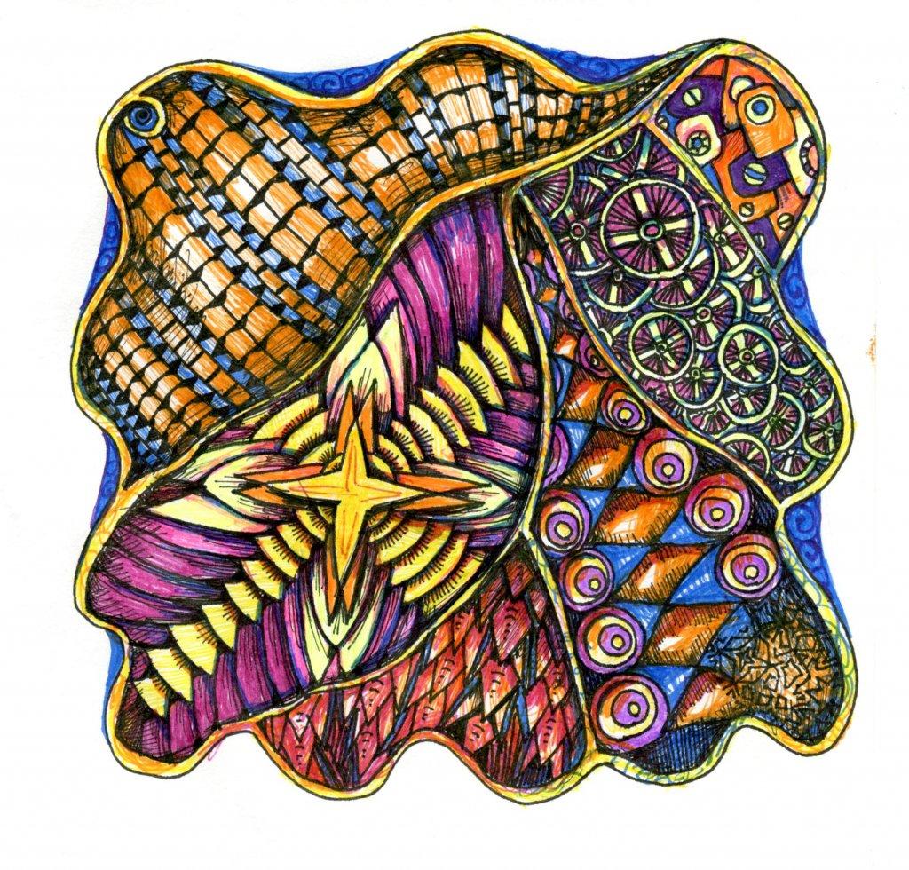 Tangle Pattern Art Example