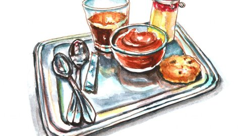 Day 20 - Cafe Gourmand Paris Watercolor - Doodlewash