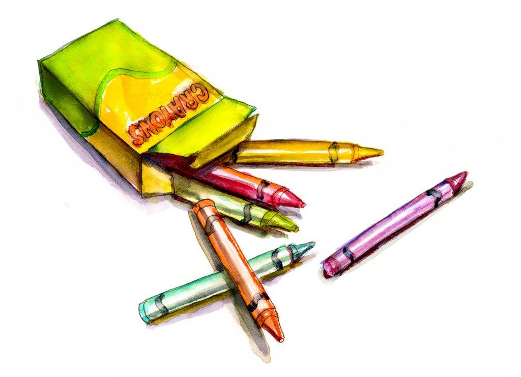 Day 3 - Box Of Crayons Watercolor - Doodlewash