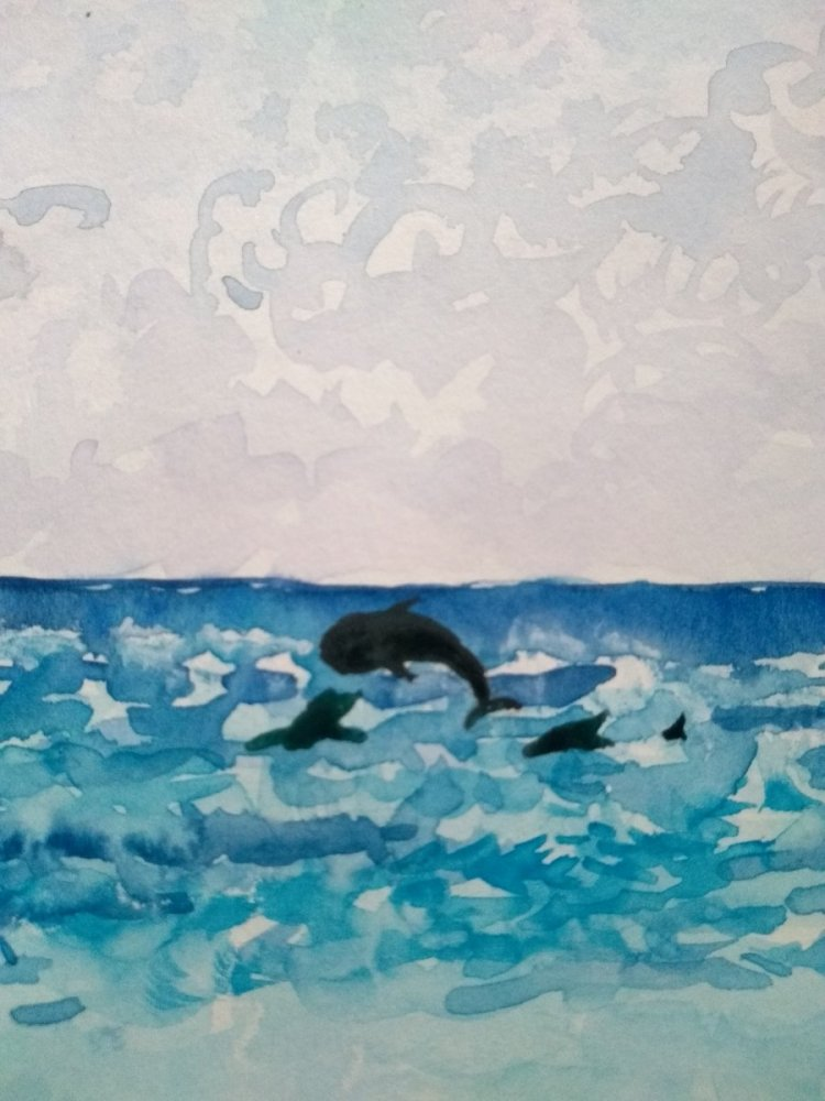 Added since dolphins to my beaches picture. But as it's cheating I made a new one too! IMG_201