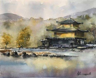 Japanese Temple Watercolor By Al Kline - Doodlewash