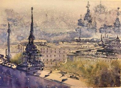 Leningrad 1914 Watercolor By Al Kline - Doodlewash