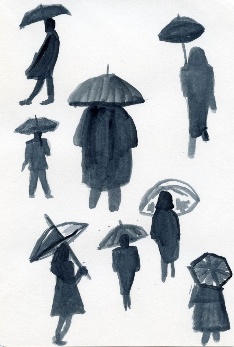 Watercolor People Sketches Simple by Sandra Strait