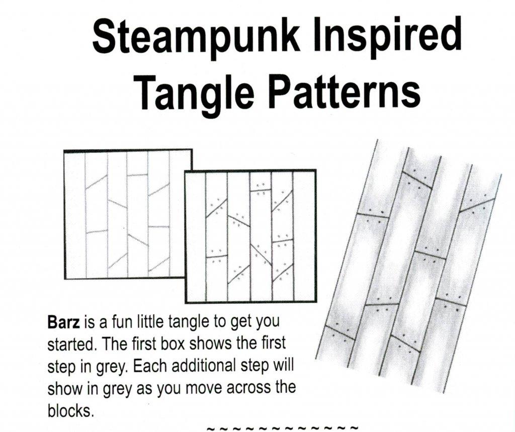 Tangle Patterns Steampunk