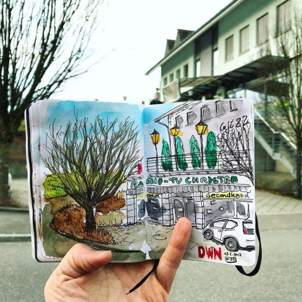 Urban Sketchers Sketching Example Dominik Neuffer 05 - Doodlewash