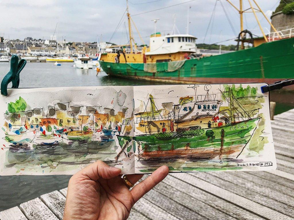 Urban Sketchers Sketching Example Dominik Neuffer 18 - Doodlewash