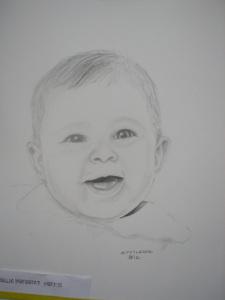 Graphite sketch of Hallie – a dear friend's baby OLYMPUS DIGITAL CAMERA