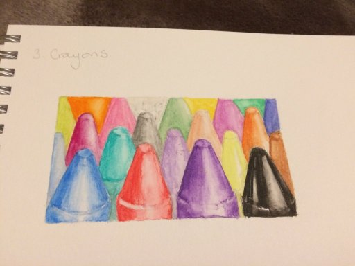 Found my Marbles  and enjoyed painting the crayons. I'm taking too long on each challenge
