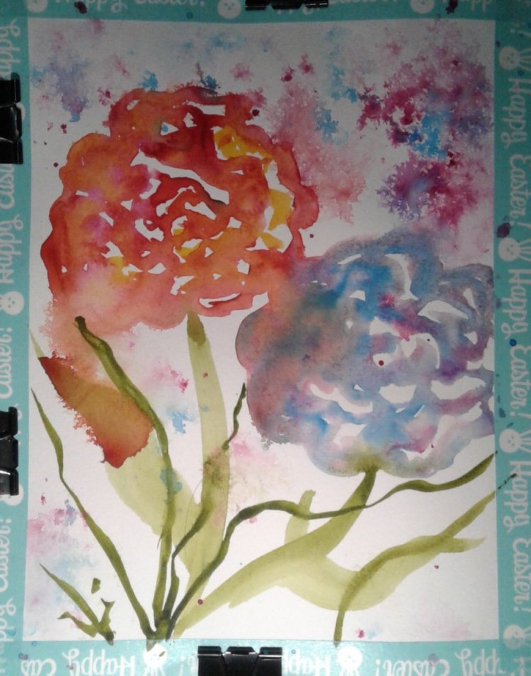 Lovely loose roses… It is so much fun to paint looses roses and yet I don't paint them o
