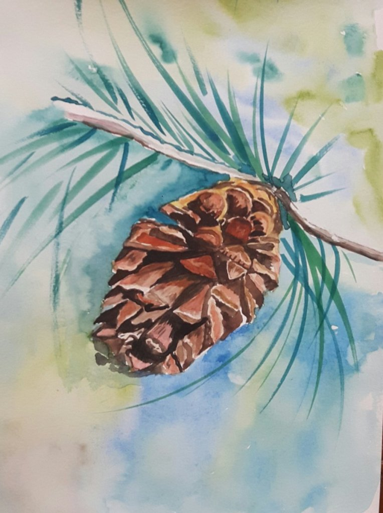 Day 21…pinecone 20190221_213928