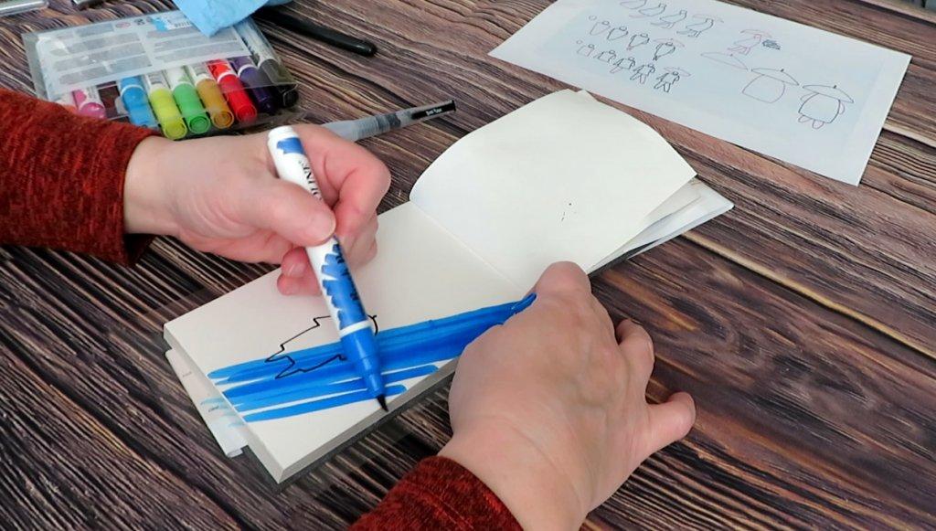 Ecoline Pen Sketching Example - Doodlewash