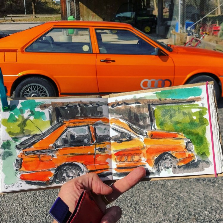 Finding this orange car from the 80s made me happy 😌 79D5CCA9-0977-4217-864F-5CE0450CBE3A