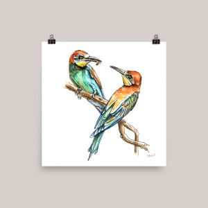 Bee Eater Watercolor Print